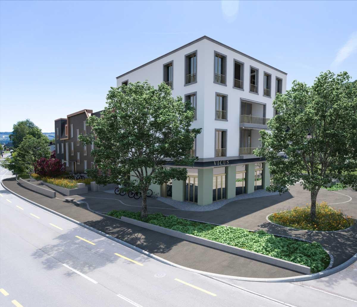 Dorfplatz-hunziker-architekten-Wohnbau